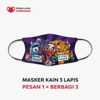 Masker untuk Indonesia x Kemas Acil - Kain Scuba Full Printing