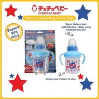 Chuchu Spout Bottle Botol Susu Bayi 200ml - Boy(Biru)