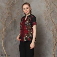 Rosela Top Jumbo - Atasan Batik Jumbo Wanita Blouse Wanita