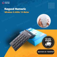 Keyboard Numerik Wireless Keypad 10 Meter Plug & Play