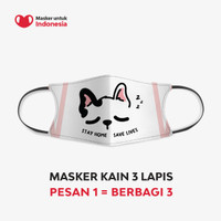 Masker Kain 3 Lapis (3 Ply) Earloop - Desain oleh Nimbus