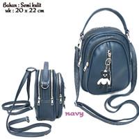 Tas Wanita Ransel Mini Backpack Multifungsi Perempuan Premium Lokal