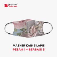 Masker Kain 3 Lapis (3 Ply) Earloop - Desain oleh Allura