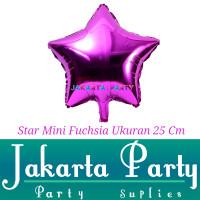 Balon Foil Star Mini Fuchsia / Balon Foil Star / Balon Bintang