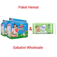 GOON SMILE BABY PANTS L30 dan tisu bayi ganti popok - Paket Hemat