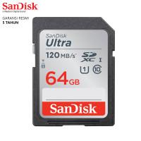 SanDisk SD Card Ultra SDXC 120MBps 64GB UHS-I Card Garansi Resmi