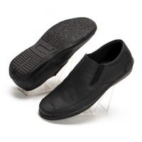 Sepatu Pria Casual Slip On Formal Hitam Kulit Asli Handmade MCL01