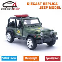 Miniatur Mobil Jeep Diecast Replica