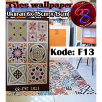 wallpaper stiker/ sticker ut keramik / lantai / ubin / tegel varian F