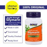 Now Foods Silymarin Milk Thistle 300 mg - 50 Veg Capsules (Obat Liver)