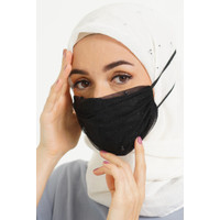 CHIC SIMPLE HEAD LOOP GLITTER TULLE MASKER WITH PEARL