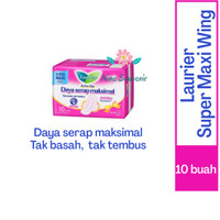 PEMBALUT LAURIER ACTIVE DAY SUPER MAXI WING ISI 10