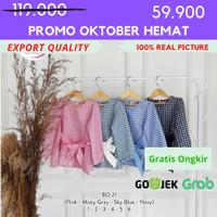 [1-6] Baju Blouse Anak Perempuan Kualitas Export BO. 21 - 1, Merah Muda