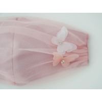 CHIC SIMPLE HEAD LOOP TULLE MASKER WITH BUTTERFLY