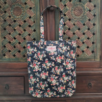 Cath Kidston Floral Book Bag Dark Blue