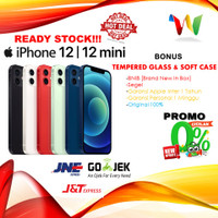 [DUAL] iPhone 64GB 128GB 256GB 12 / Mini Black Blue Green Red 13 White - 12 64GB, Nano Esim