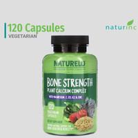 NATURELO, Bone Strength, Plant-Based Calcium Complex Magnesium Kalsium
