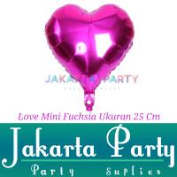 Balon Foil Love Mini Fuchsia / Balon Love Hijau / Balon Hati Mini