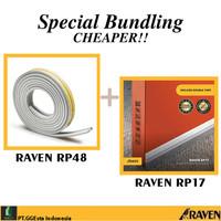 RAVEN DOOR SEAL RP17 + RP48 WHITE PAKET BUNDLING PENUTUP CELAH PINTU
