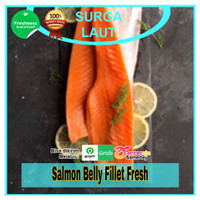 PROMO Salmon Belly Fillet Fresh / Perut Salmon Fresh / Belly Salmon
