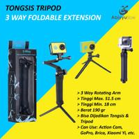 Tripod GoPro Xiaomi Yi Action Cam Sports Cam  3 Way Foldable Extension