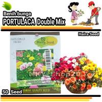 Benih bibit Tanaman hias unggul bunga Portulaca Double Mix