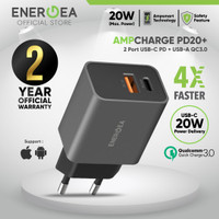 Fast Charger Adaptor iPhone 12 Series & Android 20W PD + QC3.0 Energea