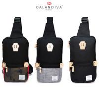 Calandiva Tas Selempang Pria Cross Body Sling Bag Travel Trendy - MS2