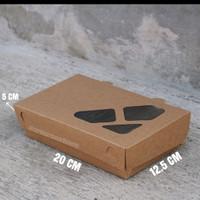 PAPER LUNCH BOX KOTAK MAKAN size L murah