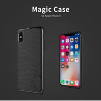 NILLKIN Magic Softcase Hardcase Casing Case iPhone X/XS/XR/XS MAX - Abu-abu, X XS