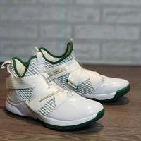 Sale Promo Sepatu Basket Nike Lebron Soldier 12 White Green