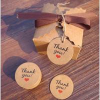 Hang Tag Hangtag Kartu Ucapan Thank You Love Parcel Kue Hamper Suvenir