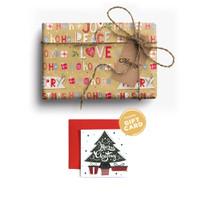 Paket Kertas Kado & Kartu Natal Harvest Gift Set Xmas -Joyland Letters