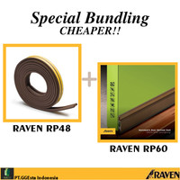 RAVEN DOOR SEAL RP60 BRONZE + RP48 BROWN PAKET PENUTUP CELAH PINTU