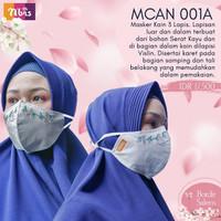 DISKON! Masker Kain Dewasa Anak Couple Hijab 2 ply 3 ply Murah Premium