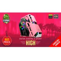 PC Rakitan Enter Gaming E-Sports HIGH AMD PINK RGB X Nvidia Graphics