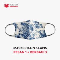 Masker Kain 3 Lapis (3 Ply) Earloop - Desain oleh Imaji Studio