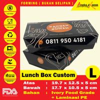 CUSTOM PRINT Paper Lunch Box Ukuran L Food Grade | Minimum 500 pcs