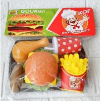 Mainan Burger Hot Dog Nampan 186AB Mainan Masakan