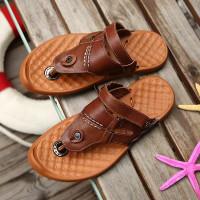 sandal pantai pria bahan kulit asli model klasik