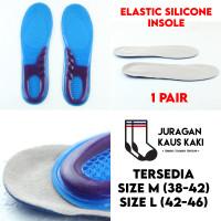 Elastic Silicone Insole Sepatu Shoe Pad Gel Support Empuk