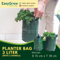 Planter Bag 3 Liter Easy Grow 2 Handle Pot Tanaman Buah Bibit Polybag