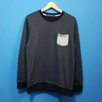 Sweater Crewneck Design United Gray Second