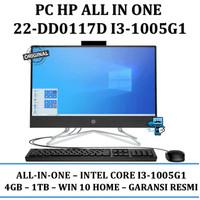 """PC HP ALL IN ONE 22-DD0117D I3-1005G1 / 4GB / 1TB / 21.5"""""""