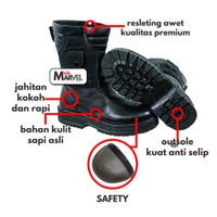 Safety Shoes Murah Sepatu Boot Kulit Pria - spatu Proyek Anti Api - 42