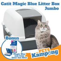Bak pasir kucing Catit hooded litter box magic blue filter jumbo 44071