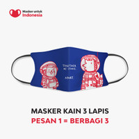Masker Kain 3 Lapis (3 Ply) Earloop - Desain oleh Citra Marina
