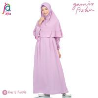 Gamis Syar'i Jilbab Afra Arfa Fizka Dress Premium Crepe Dusty Purple