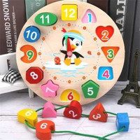 JJOVCE Board Game Mainan Edukasi Anak Geometry Number Roulette Match