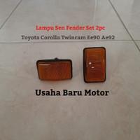 Lampu Sen Fender Spakbor Samping Side Lamp 2pc Toyota Corolla Twincam